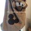 【材料】バスタオルをリメイク♪ダッフィー風防寒ケープの作り方